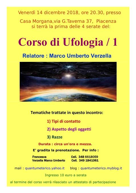 Locandina Corso di Ufologia / 1