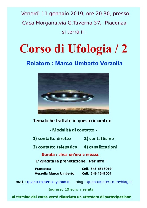 Locandina Corso di Ufologia / 2